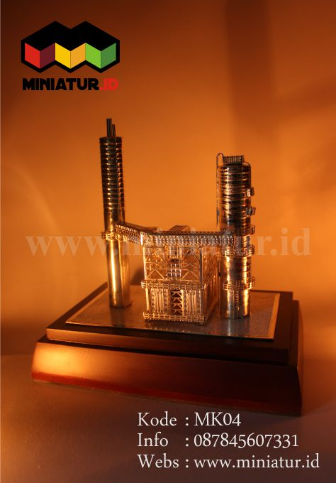 MK04-MINIATUR-LOGAM-KUNINGAN-PANGKALAN-MINYAK