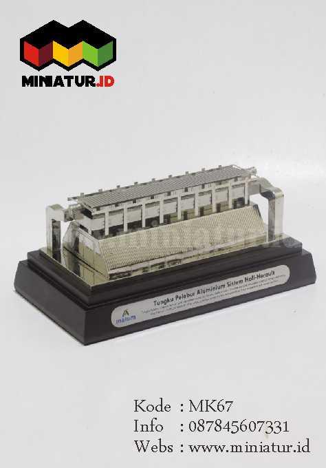 miniatur pelebur alumunium