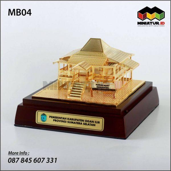 Miniatur Rumah Adat Bengkulah Ogan Komering Ilir