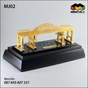 Miniatur Jembatan Kali Mujur Jawa Timur