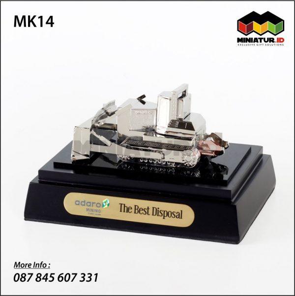 Miniatur Alat Berat Bulldozer